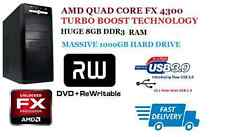 DESKTOP PC AMD FX QUAD CORE FX-4300 UPTO 4.0 GHZ X 4, 8GB DDR3 RAM, 1TB SATA HDD