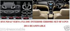 INTERIOR CHROME SET OF 8 PCS FOR HYUNDAI VERNA FLUDIC