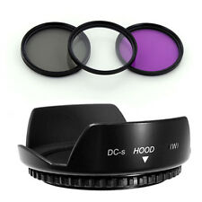 49mm Lens Hood  Petal,CPL-UV-FLD Filter Kit for Sony Alpha NEX-5 NEX-3 NEX5 NEX5