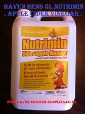 5L/LTR NUTRIMIN CIDER APPLE VINEGAR SUPPLIMENT POULTRY PETS LIVESTOCK   5 LITRES