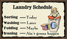 (Laundry Schedule)   WALL DECOR, DISTRESSED, RUSTIC, HARD WOOD, SIGN, PLAQUE