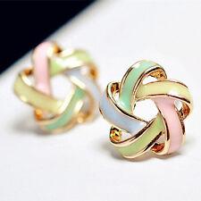 NiX 1203 New Fashion Jewelry Color Stripe Earrings Women Girl Star Shape Earring