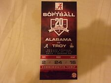 ALABAMA SOFTBALL COMMEMORATIVE TICKET