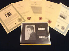 ELVIS PRESLEY Hair Lock w Towel Piece Photo Autograph Certified Signed Authentic