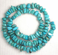 Turquoise AA 8mm Nugget Gemstone Beads Natural Colors 16 Inch Strand Craft #264