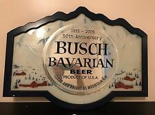 2005 BUSCH BEER MIRROR SIGN - 50th ANNIVERSARY - BAVARIAN