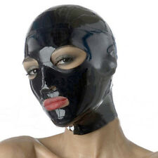 Sexy Latex Rubber Hood Teddies Mask For Catsuit Club Wear Unique Gummi 0.4mm