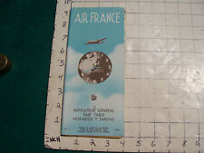 vintage HIGH GRADE travel brochure: AIR FRANCE #1, 1953 TIME TABLES 36pgs