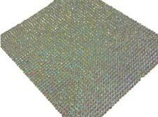 CraftbuddyUS 2000 2mm Sheet of Self Adhesive AB Clear Rhinestone Gem Craft Bling
