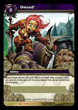 WORLD OF WARCRAFT WOW TCG : OWNED FLAG OF OWNERSHIP LOOT CARD