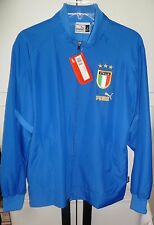 S NEW NWT PUMA ITALIA ITALY TEAM POWER BLUE WHITE WOVEN SOCCER JACKET MEN SMALL