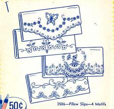 Vintage Embroidery Transfer repo 3506 Sunbonnet Butterfly Morning Glory Cases