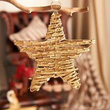 Gold glitter twig star hanging home fête de mariage noël décoration de noël 25cm