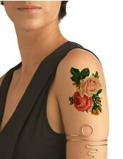 Ship from NY - Temporary Tattoo - Twin Rose