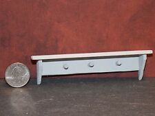 Dollhouse Miniature Wall Shelf with Pegs  G 1:12  one  inch scale A62