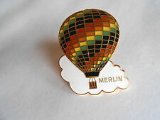 Vintage Merlin Hot Air Balloon Enamel Pin