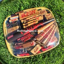 RAW SURVIVAL PACK - ROLLING PAPERS,CONES,TIPS,SHIRT,LIGHTERS,WIZ,SWAG,TRAY+MORE!