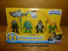 Imaginext DC Super Friends and Villains 5 Pack Black Manta Killer Kroc Aquaman