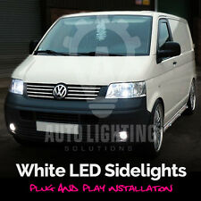 VW T5 Transporter 2003-2009 DRL LED Sidelight Upgrade light Bulbs Xenon White