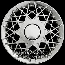 "4 CHROME 16"" Hub Caps Full Wheel Covers Rim Cap Lug Cover Hubs Wire Web Spoke"