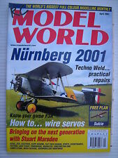 RC Model World - Radio Controlled Aircraft- April 2001 Complete with Unused Plan
