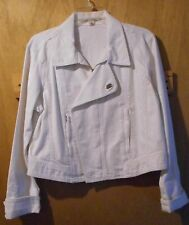 Tommy Hilfiger Womens White Jeans Jacket Size Large Long Sleeves