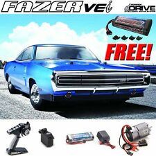 Kyosho 1/10 Fazer VEi 1970 Dodge Charger Blue 4WD Car RTR dDRIVE + Free Battery