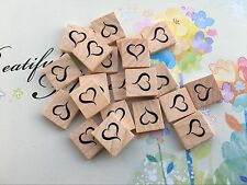 10 ' Heart ' GENUINE Scrabble Tiles Letters, Individual, Hot Press Paint, USA!
