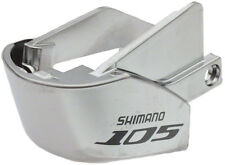 1 x SHIMANO 105 5700 GEAR LEVER STI SILVER LEFT HAND name plate cover (front)