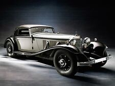 "1935 Mercedes Benz 500K Cabriolet A luxury Mini Poster 13""x19"" HD"