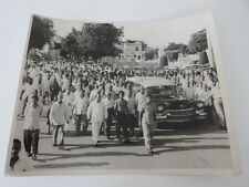 Vintage 1950s Photograph Photo Funeral Procession in Cuba Cuban Cadillac Hearse