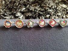 Bolsa Fiesta Rellenos X 6 Anillos de Hello Kitty-Nuevo