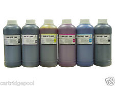 6 Pint refill Ink for HP 72 DesignJet T1200 T1300 Printer CMY/PK/GY/MK