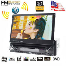"HD 7"" Single 1Din Car Stereo DVD Player GPS Navi Bluetooth Radio Video Bluetooth"