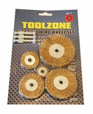 NEW FLAT WIRE WHEEL BRUSH SET Paint/Rust Removal Adaptor - FITS TO YOUR DRILL