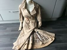 "Fab Beige trench coat mac 38"" waist 18 xtra warm layer inside"