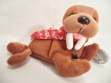 Plush Coca Cola Walrus Logo Scarf Coke Bean Bag Style 124 1998 North Pole
