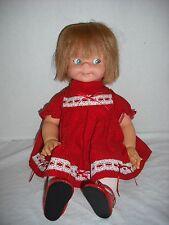 """VINTAGE MATTEL 1966 17""""  Baby Say N See Pull String Talking Doll WORKS"""