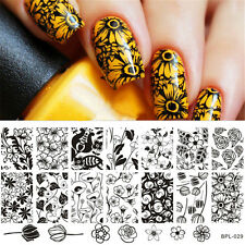 BORN PRETTY Nail Art Stamping Plate Rose Tulip Flower Image Template BP-L029