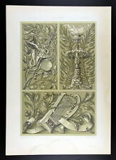 1886 SEDER - ART NOUVEAU -  Palm Tree, Laurel – Palme, Lorbeer III
