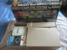 BOXED ATARI 2600 CONSOLE - WOODY SUNNYVALE CA LIGHT SIXER FULLY WORKING GD COND