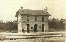 27 PERRIERS-SUR-ANDELLE CARTE POSTALE PHOTO LA GARE 1912