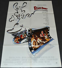 WHO FRAMED ROGER RABBIT? 1988 ORIGINAL 27x41 MOVIE POSTER! BOB HOSKINS ANIMATION