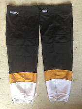 NHL Dallas Stars REEBOK Edge Pro Stock Hockey Socks XL Black, Gold and White
