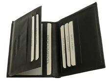 Soft Black Mens Wallet & Credit Card Holder - 7 Slots For Credit Cards 2 Windows