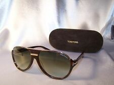 1 day sale! Authentic Tom Ford TF 334 Dimitry 56K Havana Gold Aviator Sunglasses