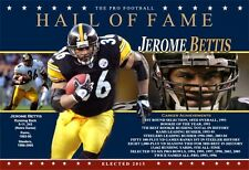 PITTSBURGH STEELERS' JEROME BETTIS PRO FOOTBALL HALL OF FAME MAXI-POSTER