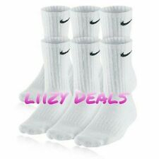 3 Pair NIKE ATHLETIC White Socks CREW Size L   Shoe size 8-12  Men's / Women