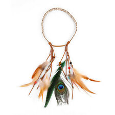 1pc Retro Indian Mayan Headpiece Ethnic Style Peacock Feather Headband Headdress