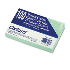 """""""Oxford Ruled Index Cards, 4 X 6, Green, 100/pack"""""""